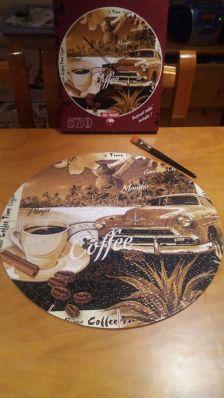 570 Reloj, una taza de cafe (Art puzzle)